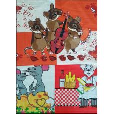 КУХОННОЕ полотенце с петелькой , велюровое с печатным рисунком 40х66