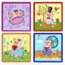 Прихватка Милые свинки 17*17