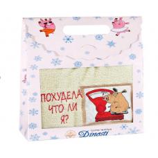 Махровое полотенце в подарочной коробке 40*70см