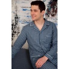 Пижама мужская Фланель Тёплый хлопок