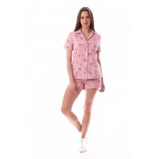 Пижама женская с шортами Фламинго