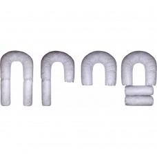 Комплект. Подушка для беременных и кормящих мам Чудо-Трансформер лебяжий пух с наволочкой бязь